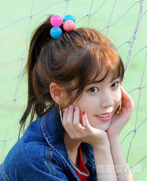 【图】学学IU泰妍少女技果真发型感十足_流扇子舞图片造型图片